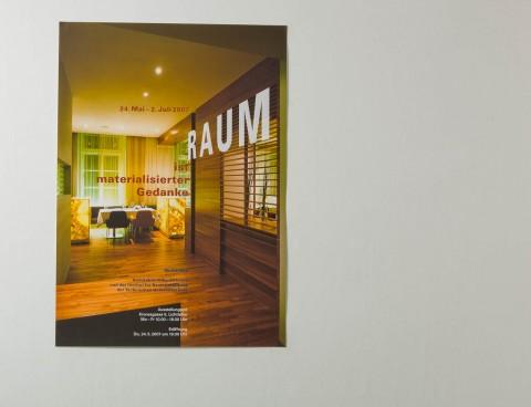 Irmgard Frank - Raum ist materialisierter Gedanke (Plakat)